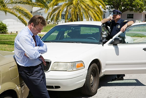 A client about to receive a DUI